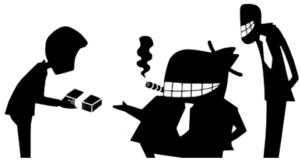 Symbolgrafik Bestechungsszene