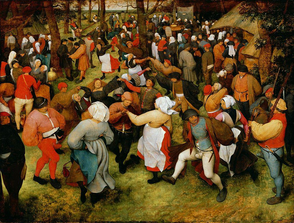"""Pieter Brueghel der Ältere, """"Der Hochzeitstanz"""", 1566"""
